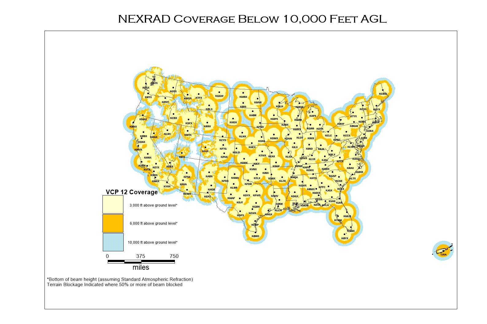 NEXRAD and TDWR Radar Locations